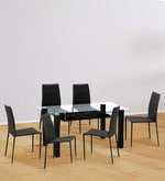 Presto Six Seater Dining Set in Dark Brown Colour