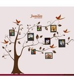 PVC Wall Stickers Family Photo Tree and Birds