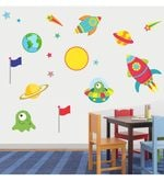 Print Mantras PVC Wall Stickers Space Planet and Stars