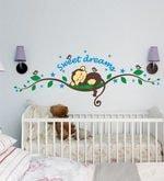 S Sweet Dreams Sleeping Monkey with Birds Wall Sticker