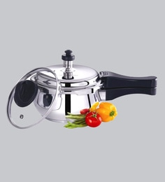Premier Stainless Steel Handi Induction Bottom Pressure Cooker With Glass Lid 3 Ltr
