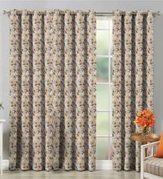 Premium Fabric Printed Eyelet  7 Feet Door Curtain