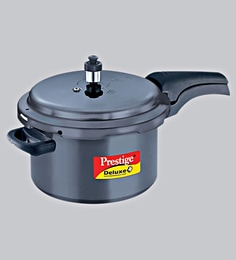 Prestige Hard Anodised & Induction Base Pressure Cooker, 5000 Ml