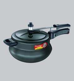 Prestige Nakshatra Plus Hard Anodised Aluminium Black Pressure Cooker ,5000 ML