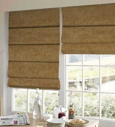 Yellow Polyester Solid Window Blind