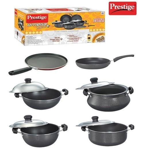 Prestige Omega Select Plus Aluminium Kitchen in Box Set - 6Pcs by ...