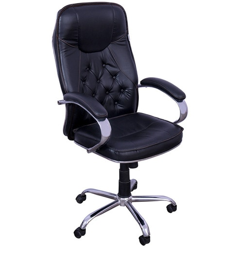 Premium Office Boss Chair In Black Colour By Rvf