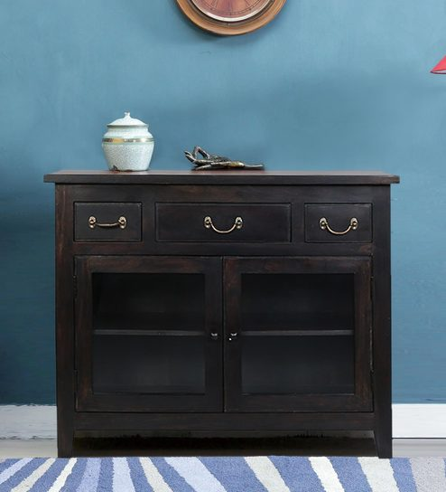 Upto 50% Off On Sideboards By Pepperfry | Prescott Sideboard in warm Chestnut Finish by Woodsworth @ Rs.15,699