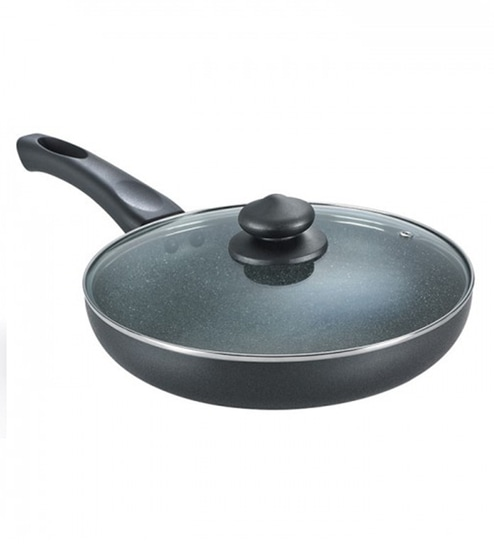 omega deluxe hard anodized non stick frying pan with lid by prestige - Non Stick Frying Pan