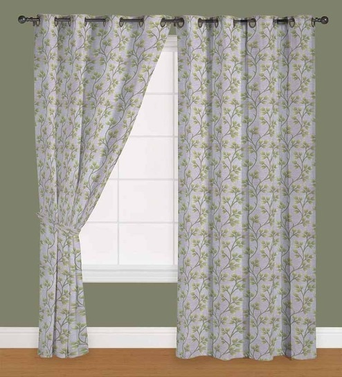 Floral Polyester 5 Feet Window Curtain Set Of 2 By Presto
