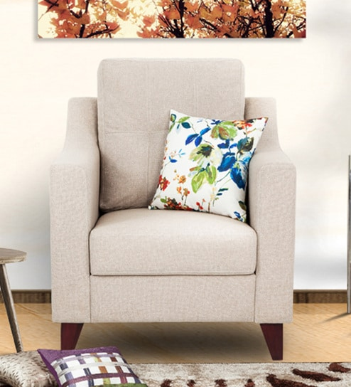 Preston One Seater Sofa In Beige Colour By Urban Living Online Sofas Furniture Pepperfry Product