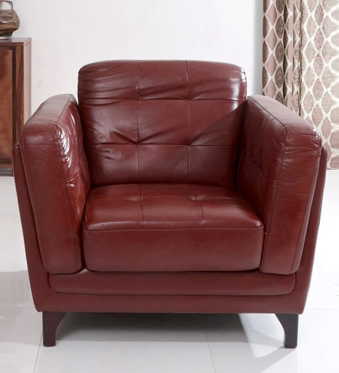 Brilliant Pretoria One Seater Sofa In Brown Leather By Evok Cjindustries Chair Design For Home Cjindustriesco
