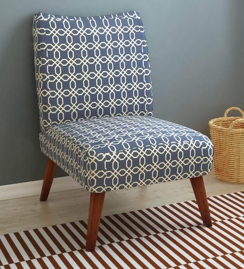Accent Chairs.Prevo Accent Chair In Blue Finish By Home