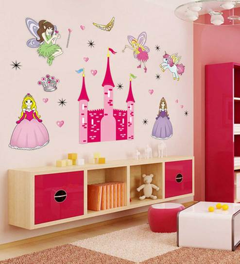 Angel Castle Princess Fairy Wall Stickers For Kids Room Sticker By Print Mantras