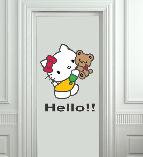 3e9c1c144 Buy Cute Hello Kitty Wall Sticker by Print Mantras Online - Kids Wall  Stickers - Wall Stickers - Wall Art - Pepperfry Product