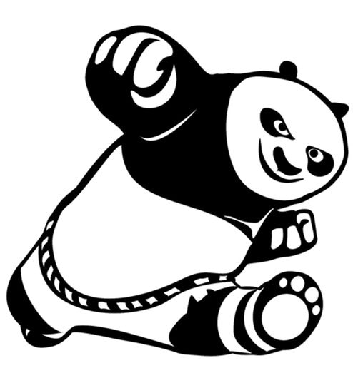 e0fb9e796 Buy Cute Kung Fu Panda Wall Sticker by Print Mantras Online - Kids Wall  Stickers - Wall Stickers - Wall Art - Pepperfry Product