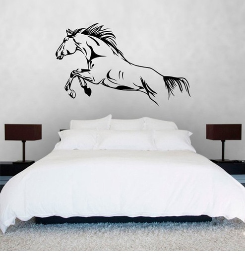 buy print mantras wall stickers beautiful running horse online