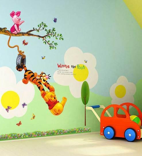 Winnie The Pooh Wall Sticker By Print Mantras