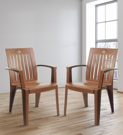 Awe Inspiring Prominent High Back Chair Set Of Two In Sbrown Colour By Cello Cjindustries Chair Design For Home Cjindustriesco