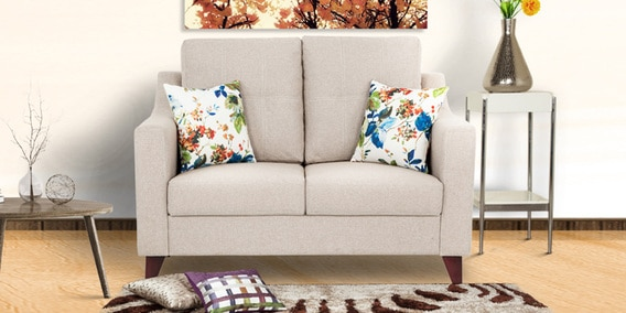 Preston Two Seater Sofa In Beige Colour By Urban Living