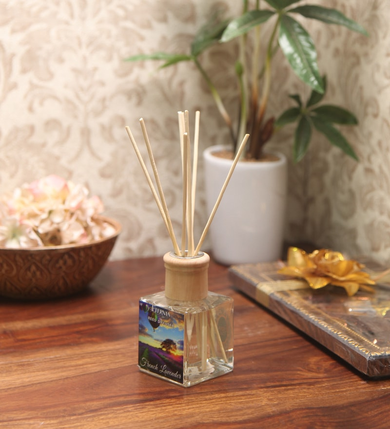 French Lavender Reed Diffuser Bottle with 10 Rattan Reed Sticks by Premsons