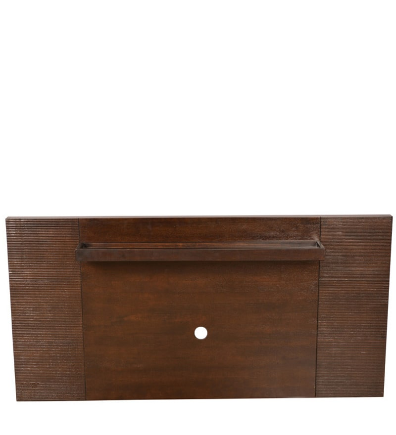 prestige wall unit in brown finish by hometown