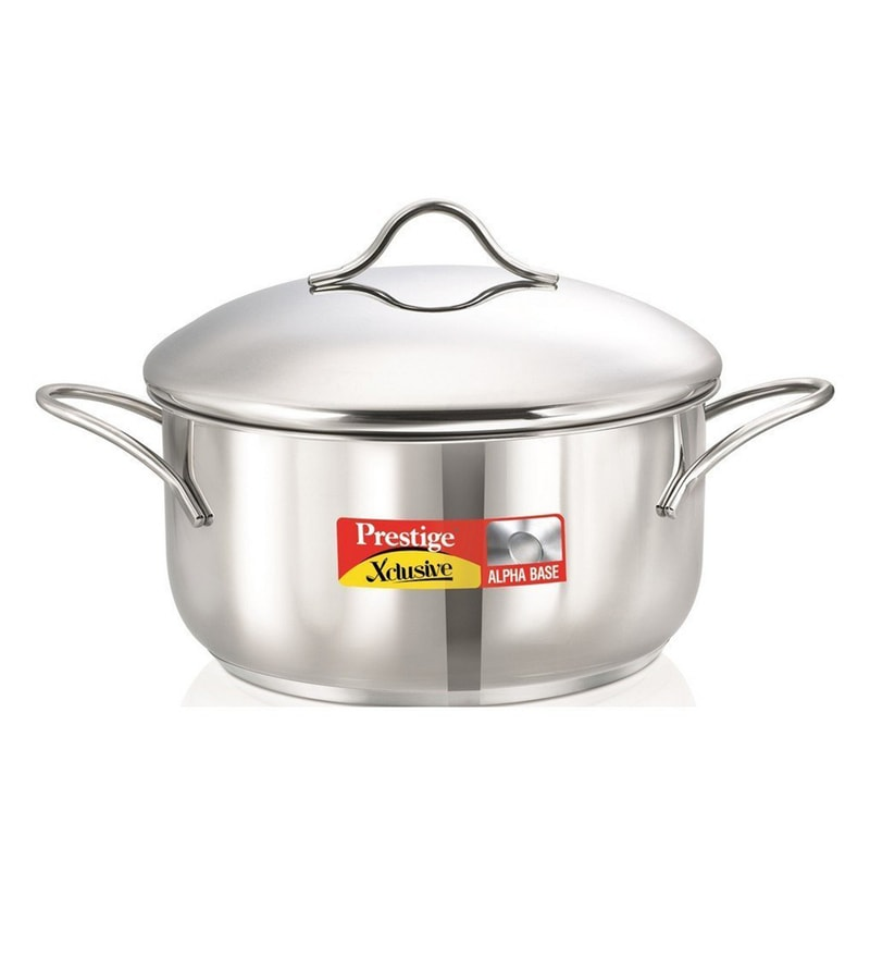 Prestige Xcusive Stainless Steel 2 L Casserole with Lid
