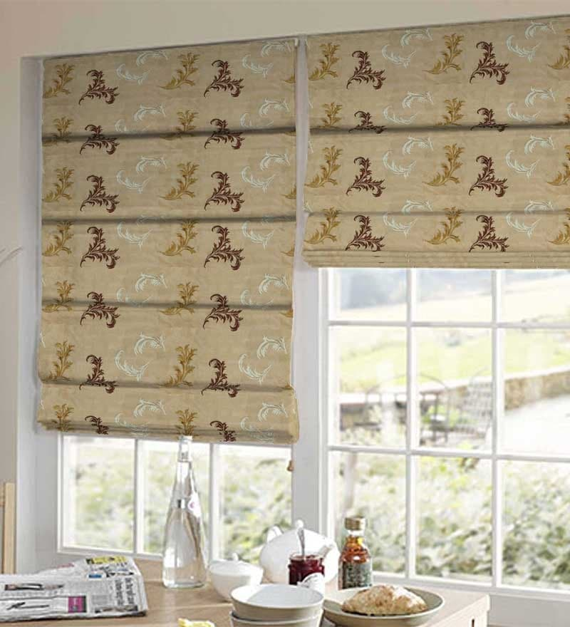 Brown Polyester Abstract Window Blind by Presto