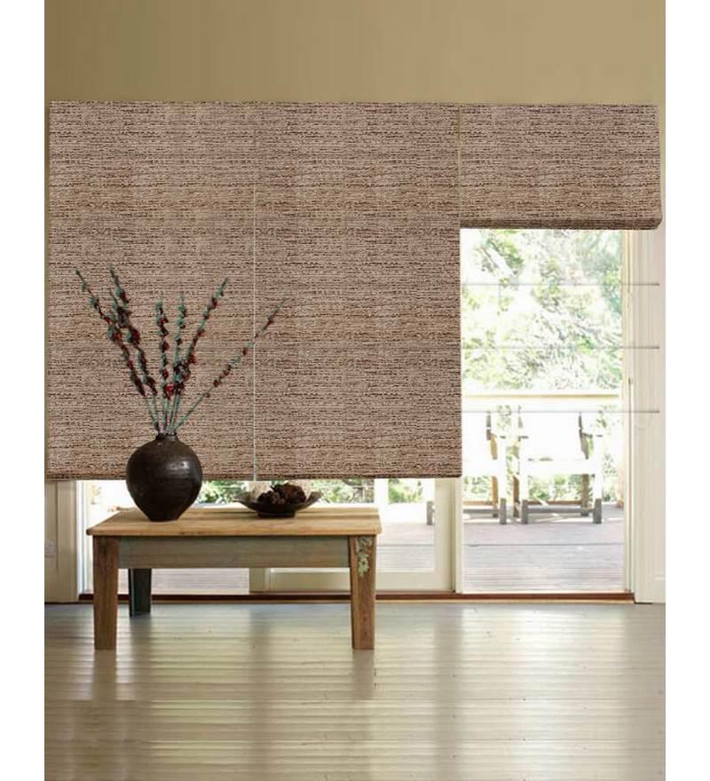 Brown Polyester Window Blind by Presto