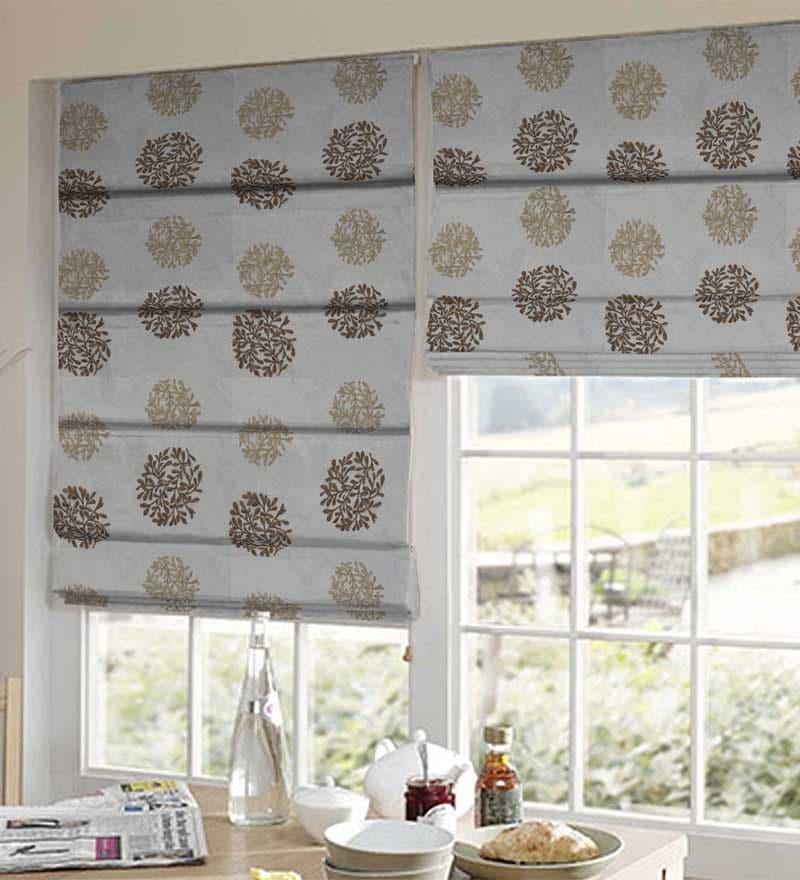 Grey Polyester Window Blind by Presto