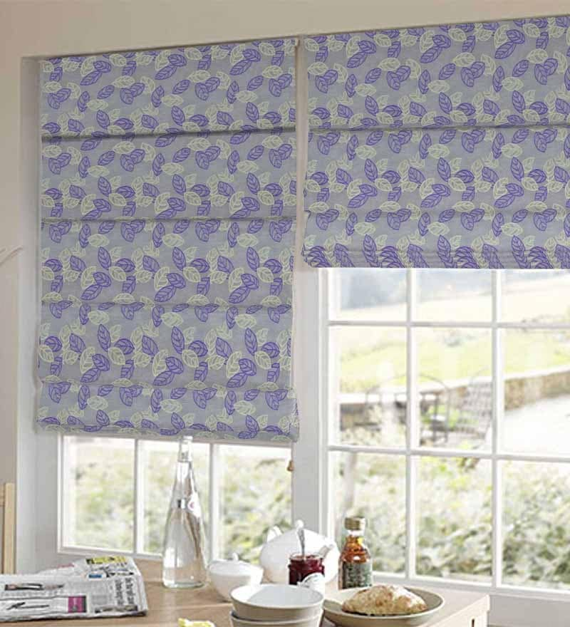 Purple Polyester Floral Jacquard Window Blind by Presto