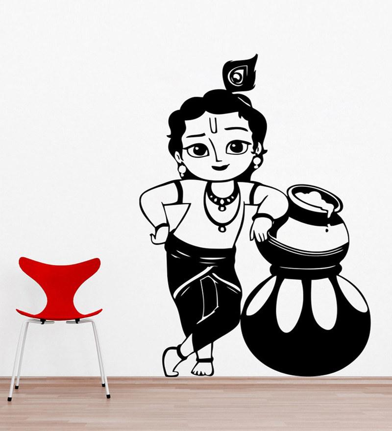 PVC Wall Stickers Beautiful Baal Krishna by Print Mantras
