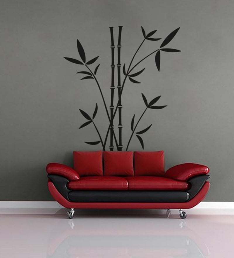 PVC Wall Stickers Beautiful Black Bamboo Trees by Print Mantras
