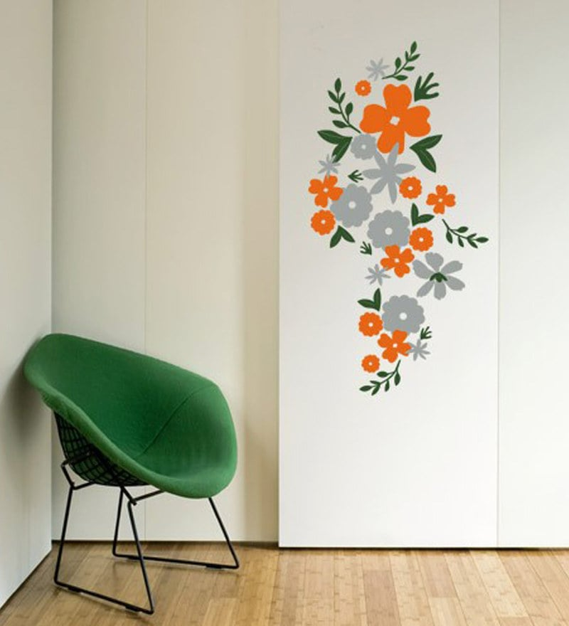 buy pvc wall stickers beautiful flowers floral designprint