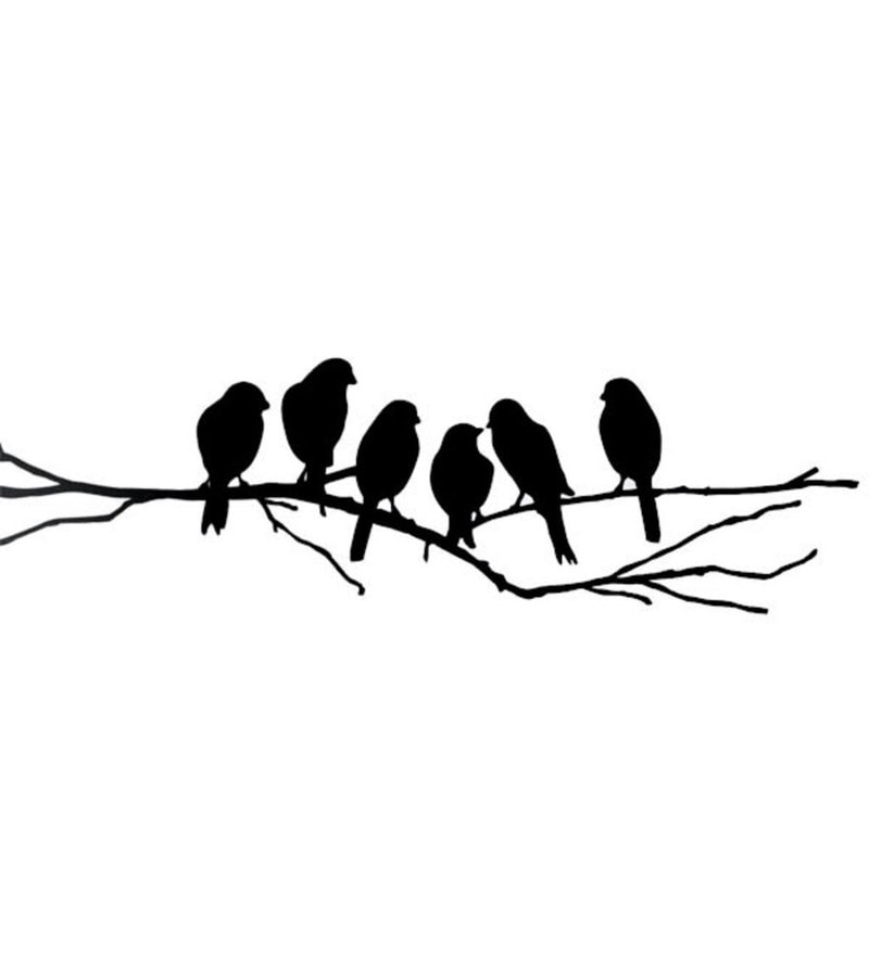 Buy print mantras wall stickers beautiful black sparrows on branches click to zoom inout thecheapjerseys Gallery