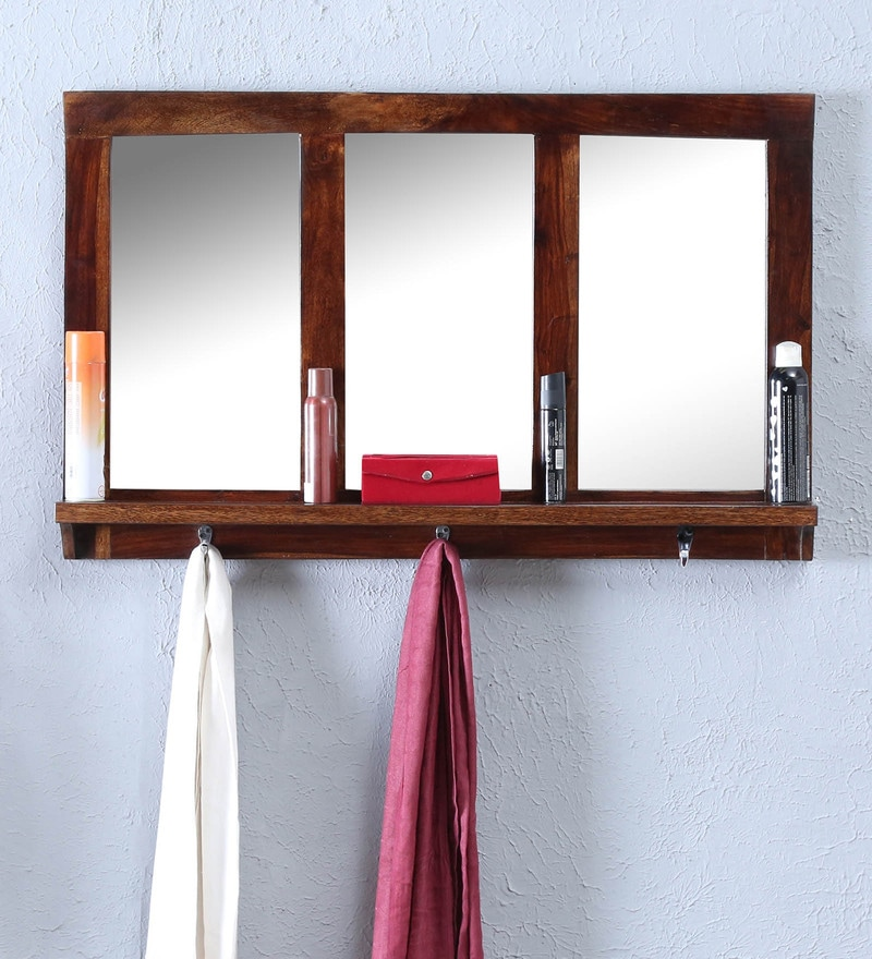 Provincial Teak Sheesham Wood Mirror with Hanger by Made Wood
