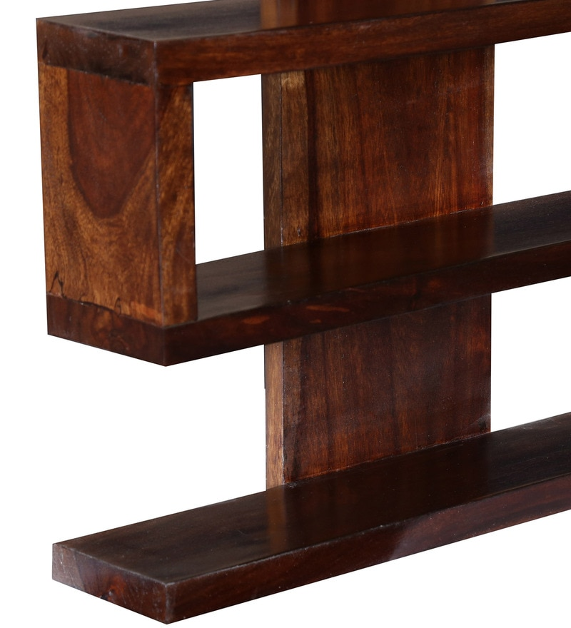 Buy Solid Wood Hand Made 6 Tier Decorative Wall Shelf In