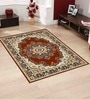 Brown Polyester Traditional Area Rug by Presto