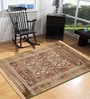 Green Viscose Rectangular Ethnic Area Rug by Presto