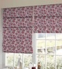 Presto Red Polyester Floral Printed Blind