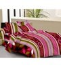 Presto Multicolour Abstract Patterns Cotton Queen Size Bed Sheets - Set of 3