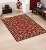 Red Polypropylene 60 x 36 Inch Traditional Area Rug by Presto