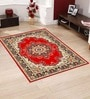 Red Polyester Traditional Area Rug by Presto