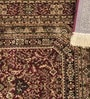 Pink Viscose Rectangular Ethnic Area Rug by Presto