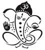 Print Mantras Beautiful Black God Ganesha PVC Wall Sticker