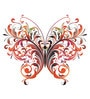 PVC Wall Stickers Beautiful Floral Big Butterfly by Print Mantras