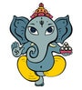 PVC Wall Stickers Beautiful God Ganesha by Print Mantras