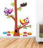 Wall Stickers Beautiful Birds and Nest on a Tree by Print Mantras