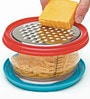 Progressive Red and Blue Plastic Two Blade Version Grate and Store
