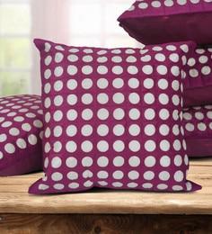 Purple Dupion Silk 16 X 16 Inch Cushion Covers - Set Of 5